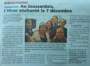 Article l'éclaireur chateaubriant marché de Noël 7 décembre Grand Fougeray