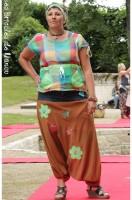 sarouel customisation jean haut chasuble multicolore