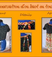 customisation haut en tunique