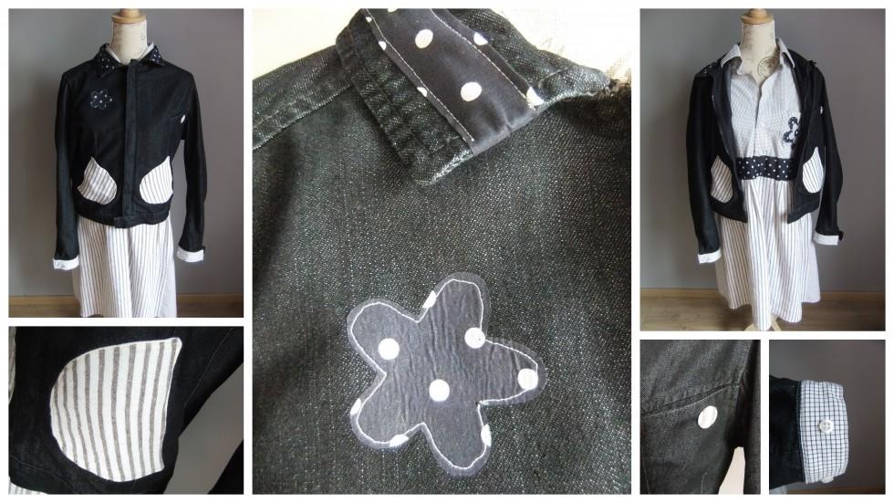 Ensemble customisation lin chemise en robe et veste