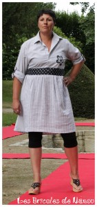 Customisation chemise en robe. Jupon customisé.