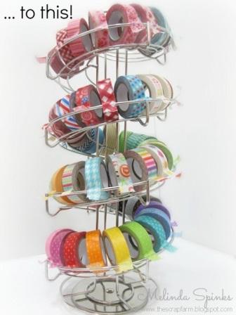 Trucs et astuces pour organiser son atelier: distributeur masking tape ou rubans