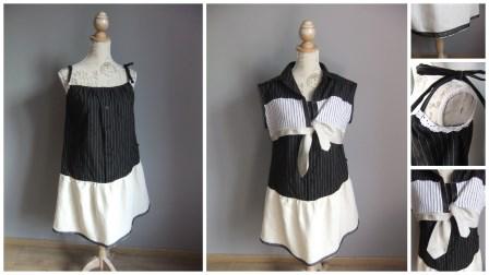 Ensemble  customisation  chemise en robe et boléro