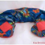 Bouillottes cervicales bleu et orange
