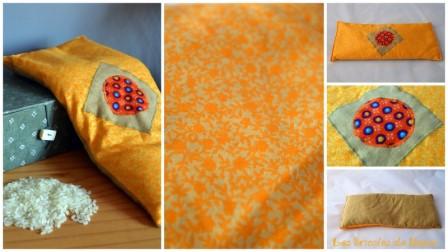bouillotte rectangulaire orange