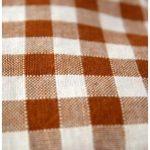 Bouillottinette marron et orange à carreaux