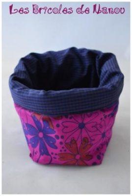 Grand panier range tout rose et violet