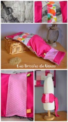 Bouillotte ceinture rose