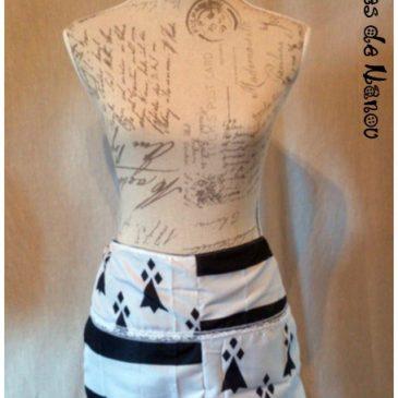 Une jupe bretonne Gwenn ha du pour une commande très personnalisée.
