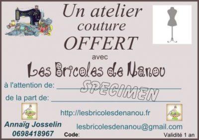 specimen carte cadeau cours couture