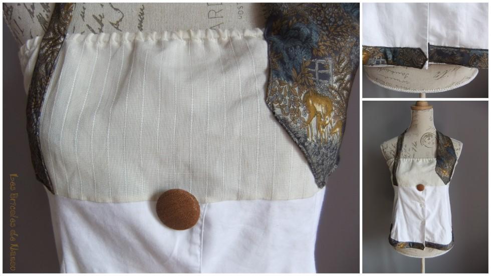 Haut customisation  chemise et cravate en bustier