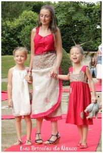 Customisation haut en robe et robes chasubles fillette en lin.