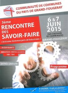 3ème rencontre des Savoir-Faire à Grand Fougeray 6 et 7 juin 2015