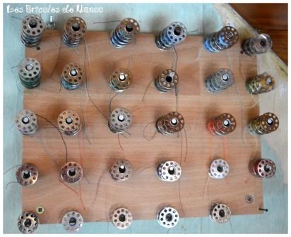 Organisation atelier: rangement canettes de fils