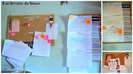 Organisation atelier: tableau et planner