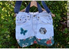 sac jeans bleu ciel coton customisation recyclage