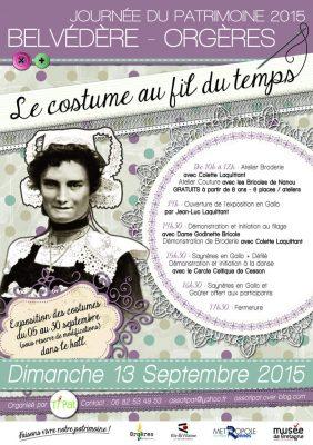 Atelier couture pendant la journée du patrimoine à ORGERES (35)