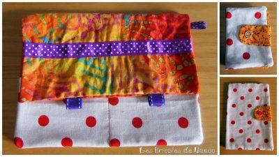 batik orangé et violet