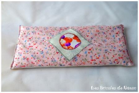 Bouillotte rectangulaire rose à fleurs