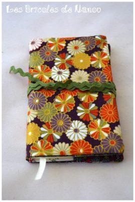 Carnet de note tissu japonais à fleurs