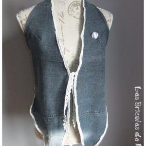 Gilet sans manches en jeans