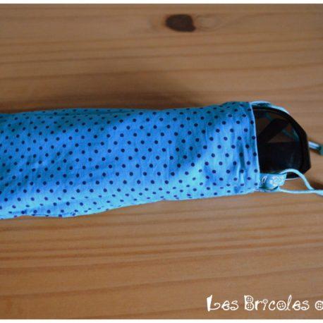 Porte lunette réversible bleu