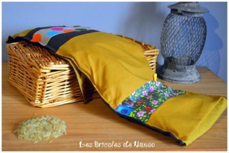 Bouillotte ceinture jaune et marron