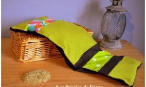 Bouillotte ceinture verte et marron