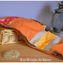 Bouillotte ceinture orange
