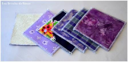 Lingettes démaquillantes violet