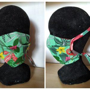 masque en tissu lavable simple