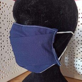 Masque en tissu lavable simple bleu