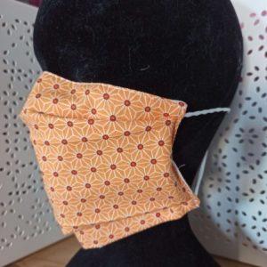 Masque en tissu lavable simple orange