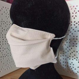 Masque en tissu lavable simple écru
