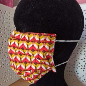 Masque en tissu lavable simple rouge orangé