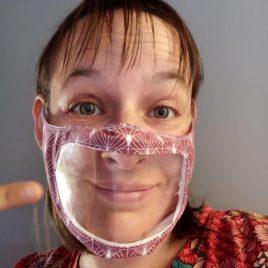 Masque à fenêtre transparente