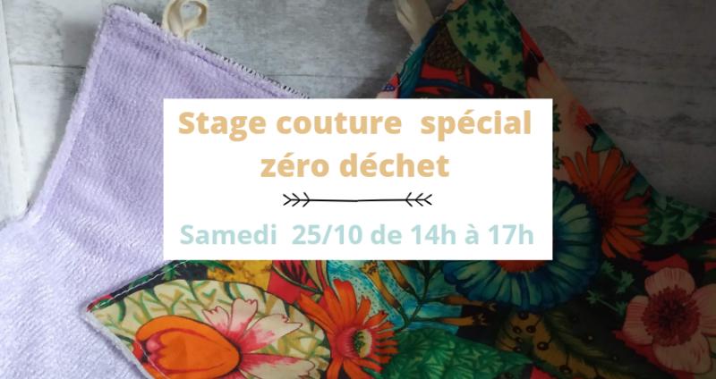 Mini stage couture samedi 24 octobre zéro déchet