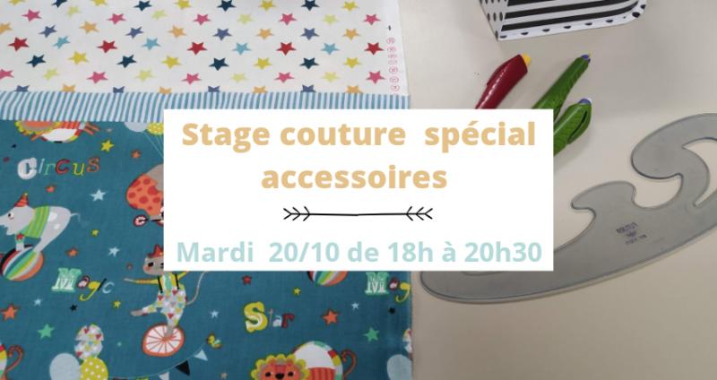 Stage couture mardi 20 octobre spécial accessoires