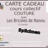 Carte cadeau cours de couture collectif sur mesure